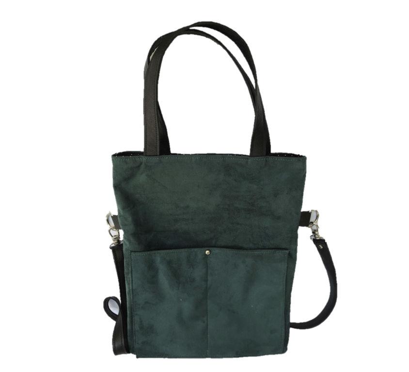 Bolsa Dobra Camurça Verde