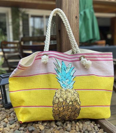 bolsa lona abacaxi 2