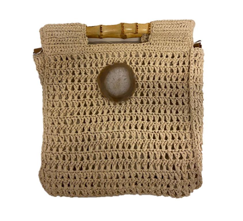 Bolsa palha Bambu Pedra