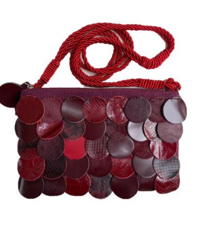 bolsa bolinha vermelha